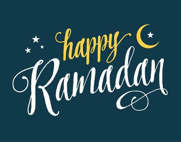 Happy Ramadan Lettering