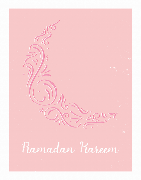 Ramadan Kareem Ornamental Moon