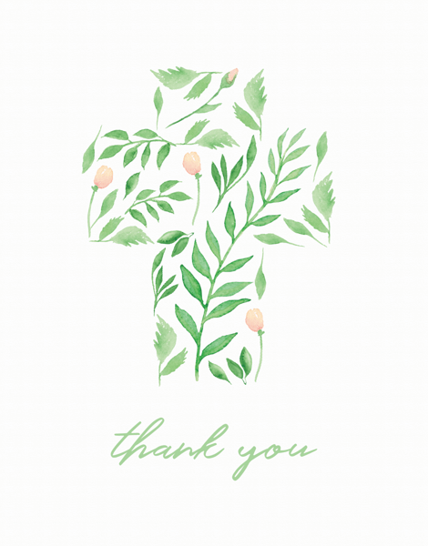 Floral Cross Thank You