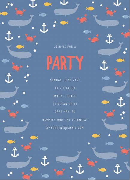 Nautical Party Invite