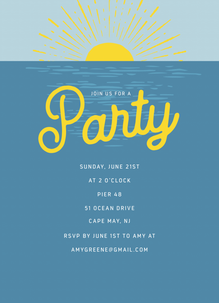 Ocean Sunset Party