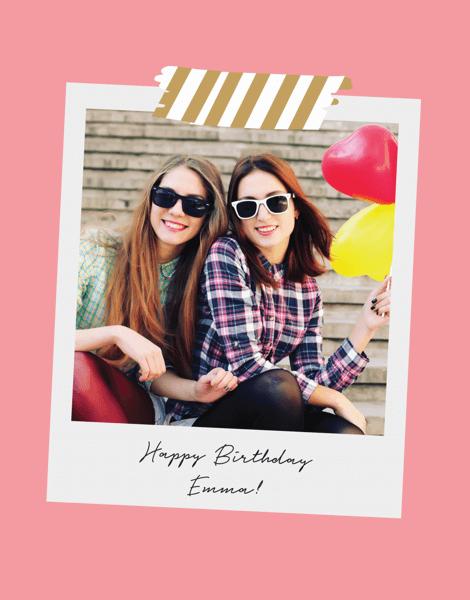 Pink Polaroid Birthday