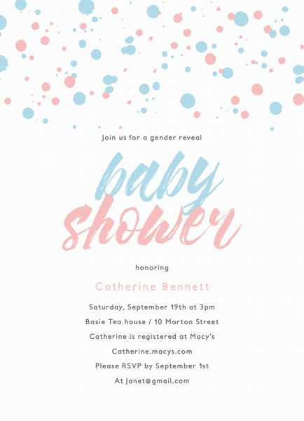 Paint Splash Baby Shower