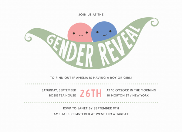 Pea Pod Gender Reveal