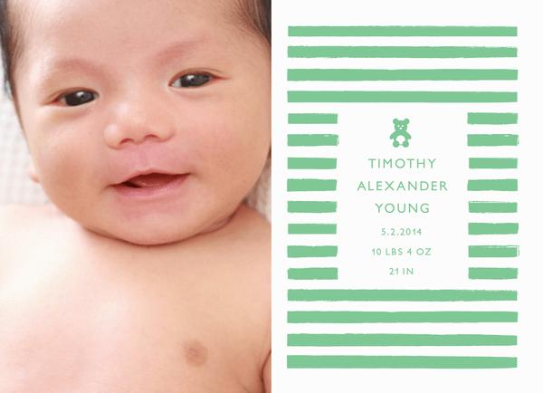 Teddy Green Birth Announcement