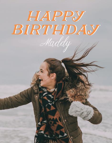 Orange Birthday Wishes