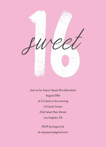 Brushy Sweet 16