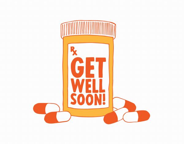 Medicine Get Well Card
