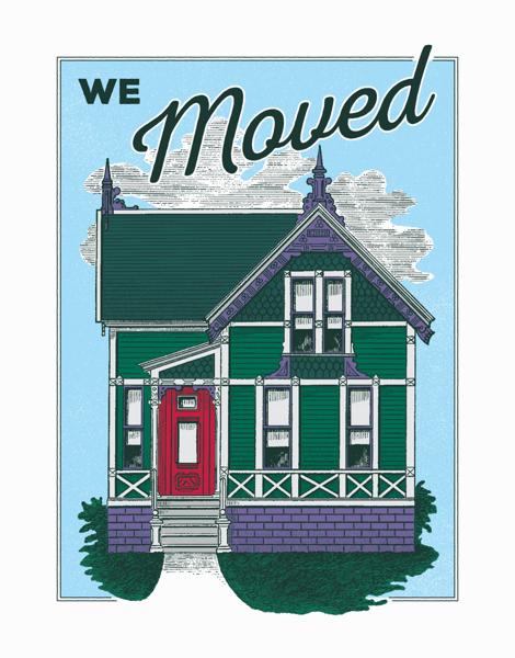 Vintage We Moved