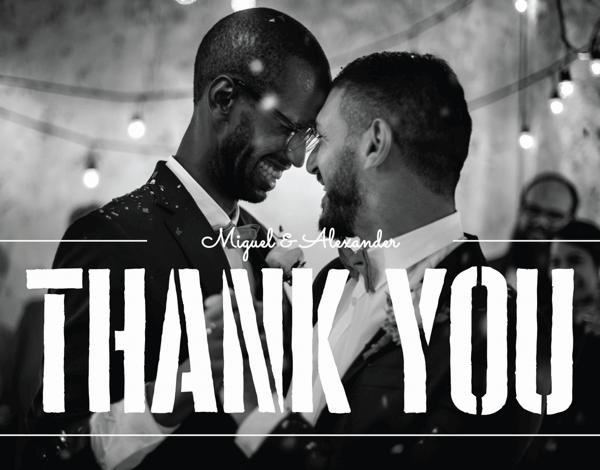 Stencil Wedding Thank You