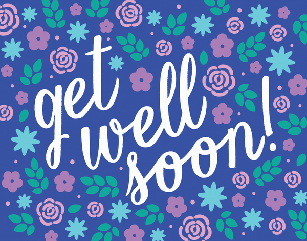 Botanical Get Well Soon Card