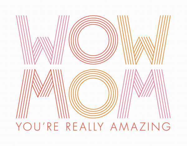 Pink Modern Mother's Day Card