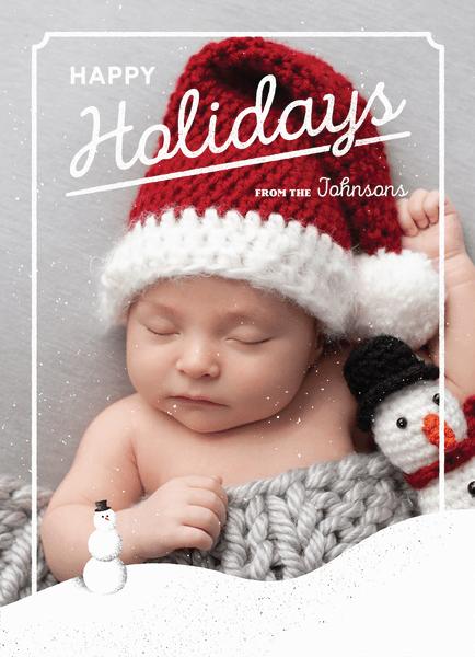 vintage-script-holiday-photo-card