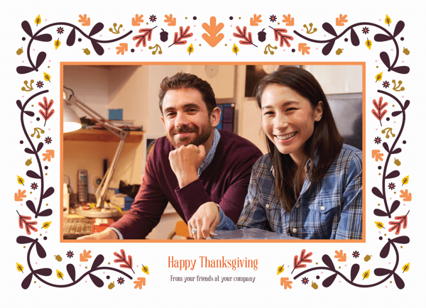 Thanksgiving business card with photo
