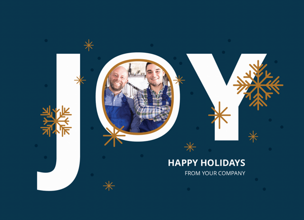 chic business holiday photo card