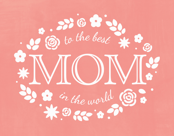 Best Mom Summer Mother's Day Card