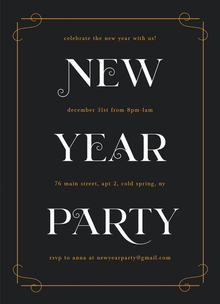 New Year Deco Invite