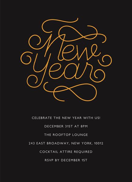 Swirly New Year