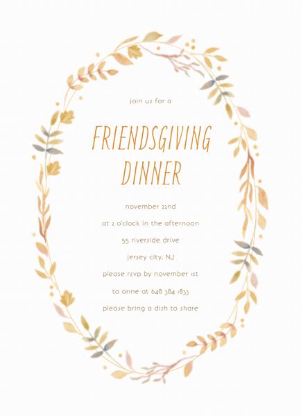 Watercolor Wreath Thanksgiving