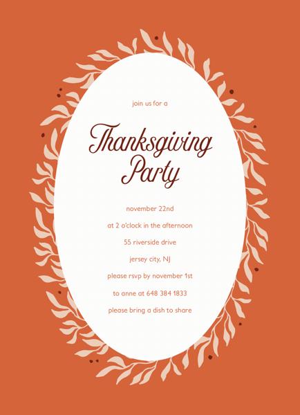 Orange Thanksgiving Party