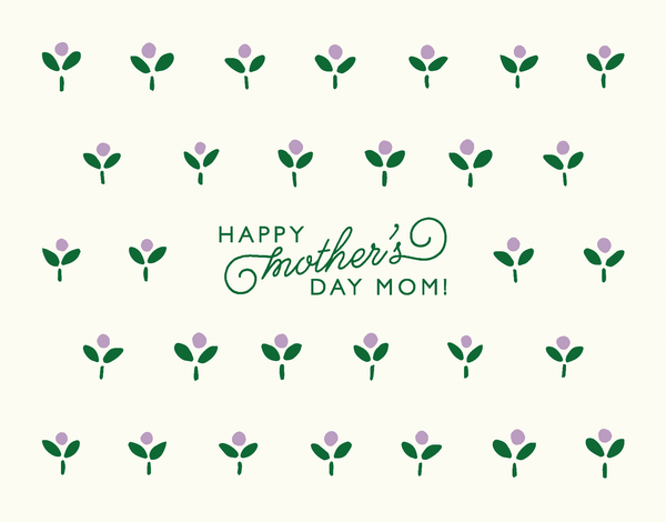 Ditsy Buds Mother's Day Card