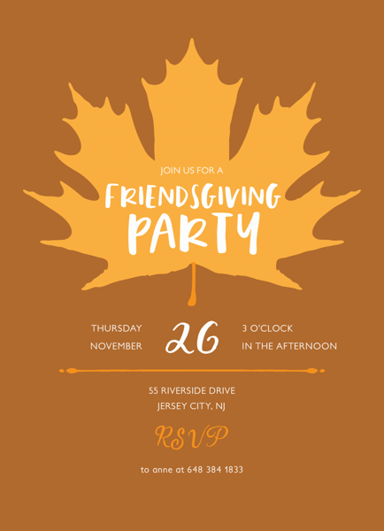 Maple Leaf Friendsgiving
