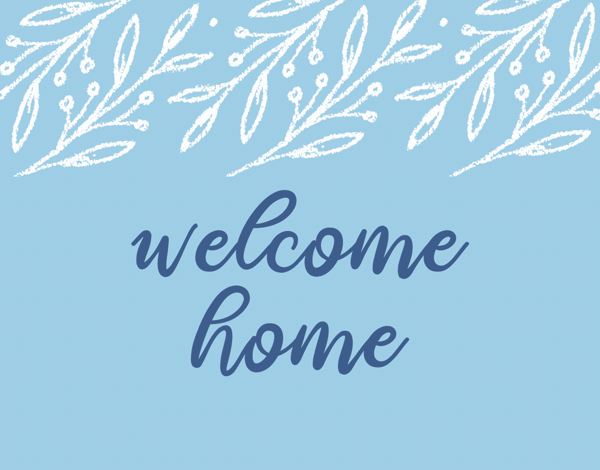 Blue Welcome Home
