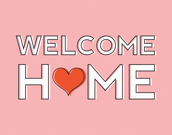 Pink Welcome Home