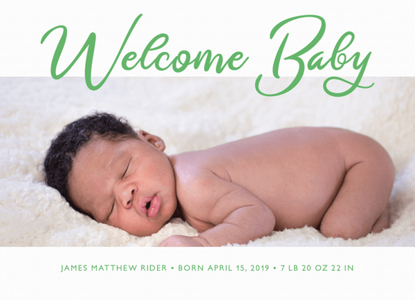 Welcome Baby Lettering