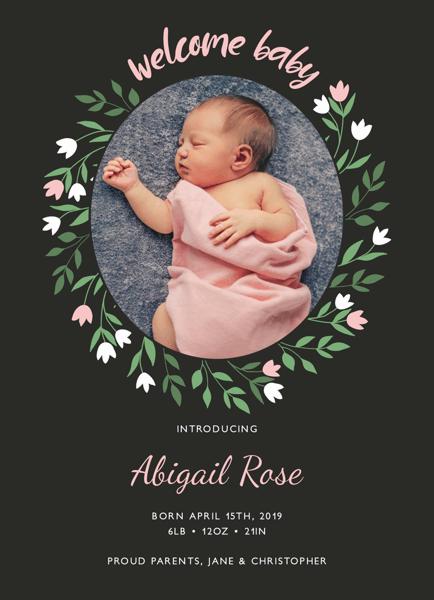 Tulip Birth Announcement