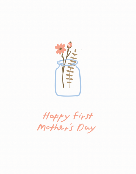 First Mother's Day Vase