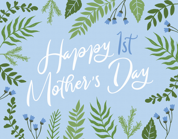 Mother's Day Floral Calligraphy