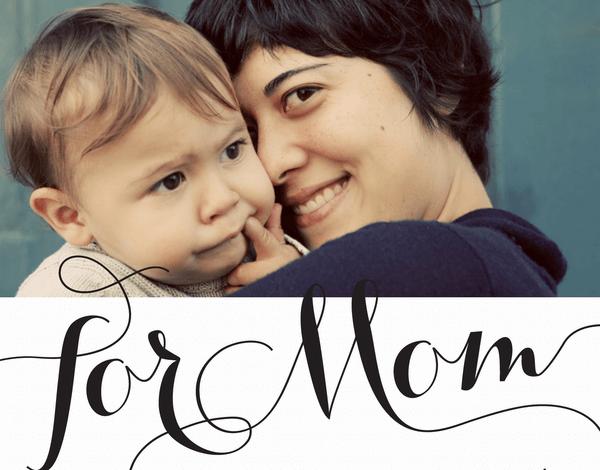 Elegant Custom Mom Card