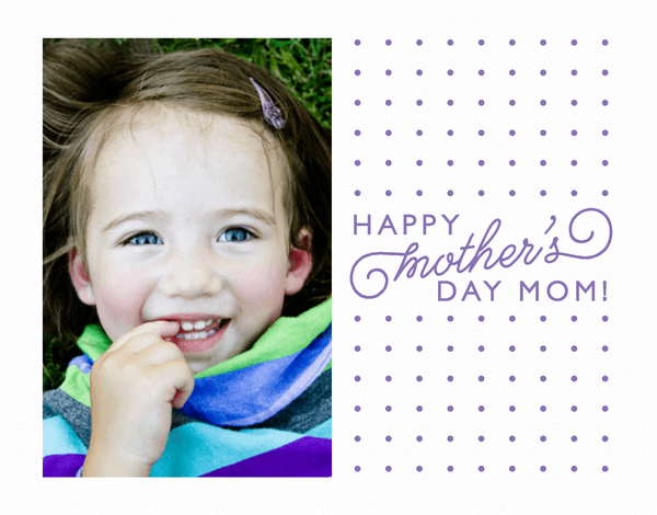 Dotty Mother's Day Photo Card