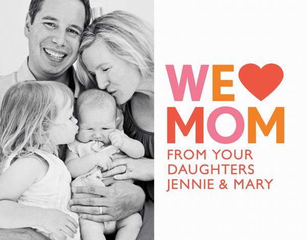 We Heart Mom Photo Card