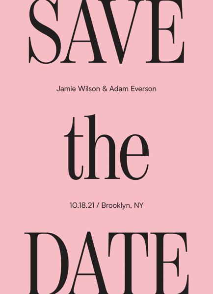Modern Serif Save The Date