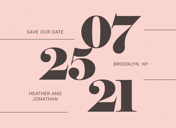 Big Bold Save The Date