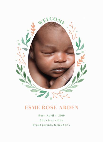 Easter Wreath Birth Announcement