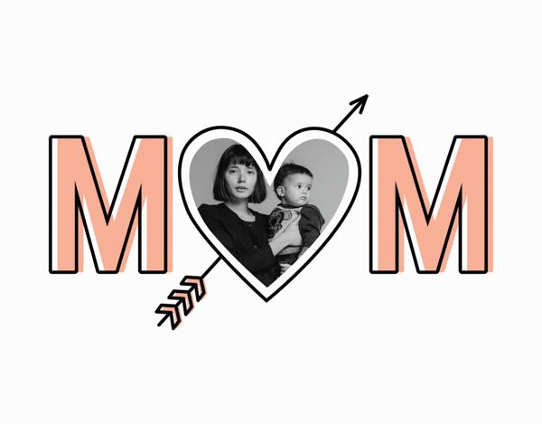 Bold Mom Outline
