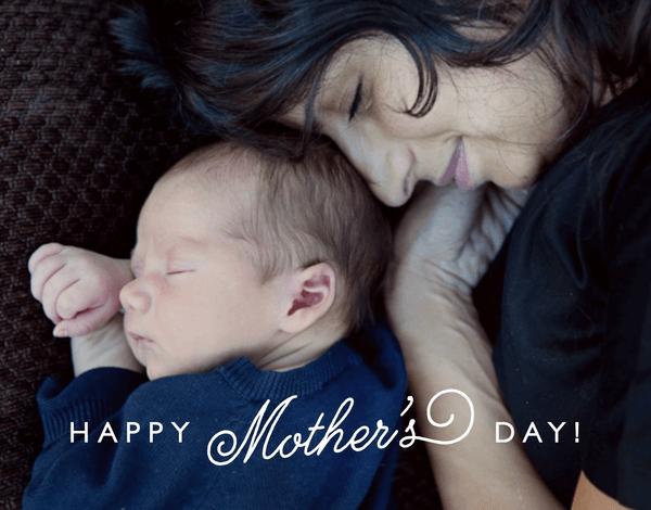 Modern Flourish Mother's Day Card