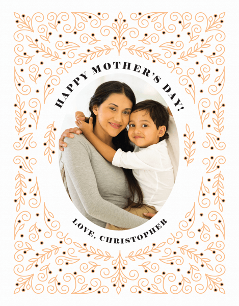 Mother's Day Floral Lace Frame