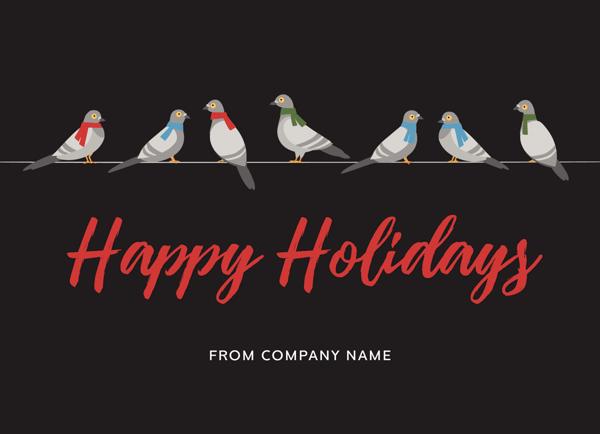 Festive Pigeons