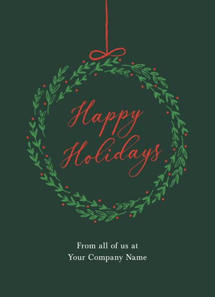 Green Holiday Wreath