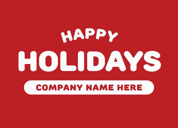 Bold Holiday Greeting