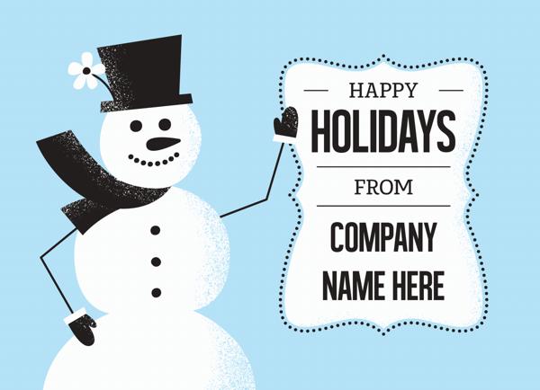 Happy Snowman Holiday