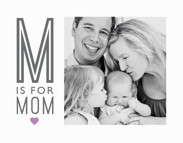 M Is For Mom Photo Card