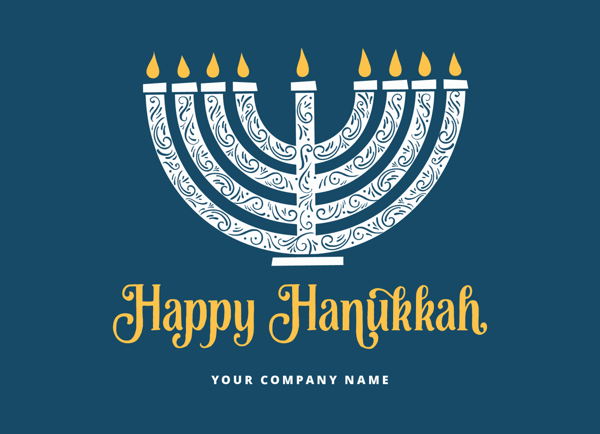 Simple Hanukkah Menorah