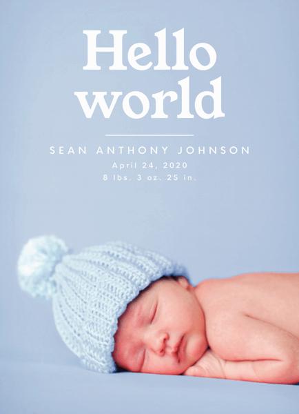 Hello World Announcement