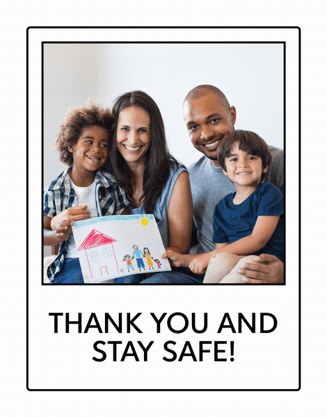 Stay Safe Photo Thanks