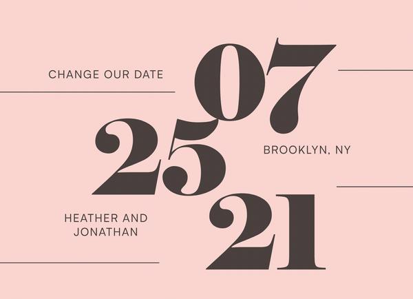 Big Bold Change The Date
